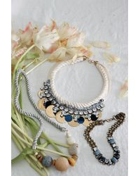 Anthropologie | Gray Nebula Rope Necklace | Lyst