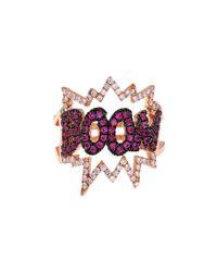 Diane Kordas | Pink Diamond, Sapphire & Gold Boom Ring | Lyst