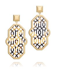 Tory Burch | Metallic Chantal Perforated Earring | Lyst