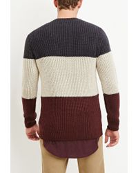 Forever 21 | Red Colorblocked Wool-blend Sweater for Men | Lyst