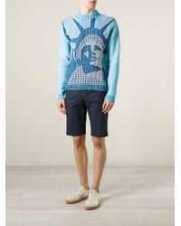 KENZO - Blue 'statue Of Liberty' Sweater for Men - Lyst