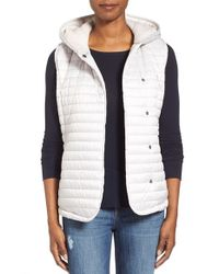UGG | White Australia Outerwear 'rene' Hooded Quilted Vest | Lyst