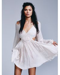 Free People | Gray Endless Summer Womens Face The Facts Fit N Flare | Lyst