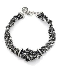 Giles & Brother - Metallic Heavy Rope Chain Loop Necklace - Lyst