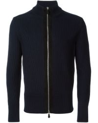 Tom Ford - Blue Zipped Up Cardigan for Men - Lyst