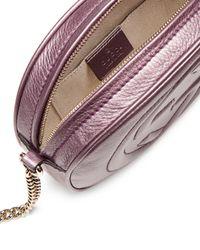 Gucci - Pink Soho Metallic Leather Mini Chain Bag - Lyst