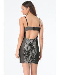 Bebe - Black Andie Lingerie Dress - Lyst