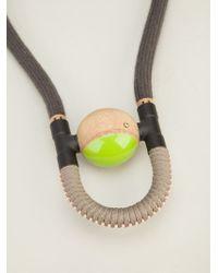 Vice & Vanity - Gray 'kisa' Necklace - Lyst