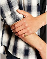 ASOS   Metallic Gold Plated Pinky Ring   Lyst