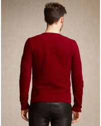 Belstaff | Lincefield Jumper In Dark Red Cashmere Blend for Men | Lyst