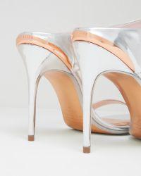 Ted Baker - Metallic Mule Sandals - Lyst