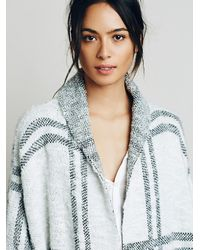 Free People | White Womens Window Pane Check Jacket | Lyst
