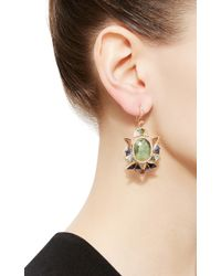 Nak Armstrong - Green One Of A Kind Emerald And Sapphire Earrings - Lyst