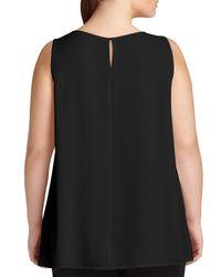Lafayette 148 New York - Black Merryn Sleeveless Silk Blouse - Lyst