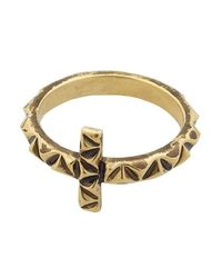 House of Harlow 1960 | Metallic Cross Ring | Lyst