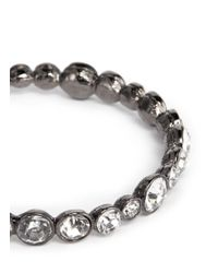 Kenneth Jay Lane - Gray Crystal Bangle - Lyst