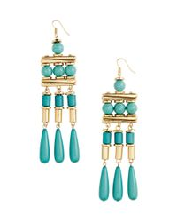 H&M | Blue Long Earrings | Lyst