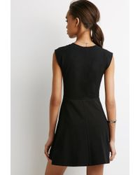 Forever 21 | Black Love Fit & Flare Dress | Lyst