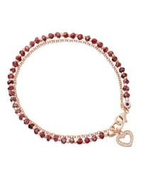 Biography - Red Spinel Heart Bracelet - Lyst