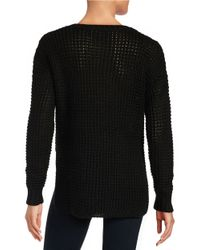 Sam Edelman | Black Hi-lo Knit Sweater | Lyst