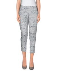 Ermanno Scervino | Gray 3/4-length Trousers | Lyst
