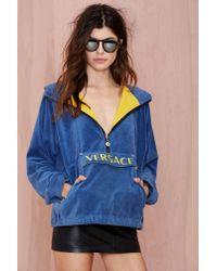 Nasty Gal - Blue Vintage Versace Game Over Sweatshirt - Lyst