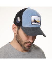 James Perse Blue Yosemite Trucker Hat for men