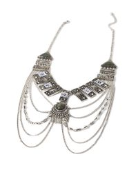Forever 21 | Metallic Etched -inspired Necklace | Lyst