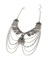 Forever 21 - Metallic Etched -inspired Necklace - Lyst
