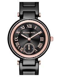 MICHAEL Michael Kors - Black 'mini Skylar' Bracelet Watch - Lyst