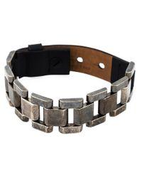 Lanvin - Black Contrasting Panel Bracelet for Men - Lyst