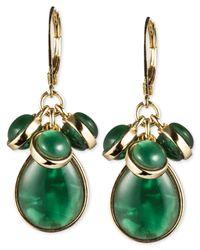 Jones New York - Green Epoxy Stone Cluster Earrings - Lyst
