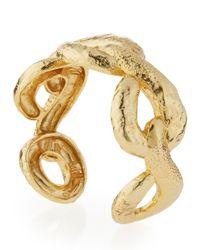 Alexis Bittar - Metallic Element Golden Rocky Link Cuff Bracelet - Lyst