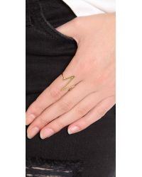 Sarah Chloe - Metallic Large Heartbeat Ring - Lyst