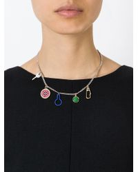 Marc By Marc Jacobs - Metallic Charm Necklace - Lyst