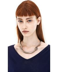 Acne Studios - Metallic Carena Silver Necklace - Lyst