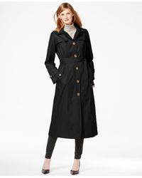 London Fog | Black Classic Maxi Trench Coat | Lyst