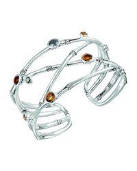 John Hardy | Metallic Batu Bamboo Sterling Silver Cuff Bracelet | Lyst