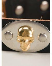 Alexander McQueen | Black Plaque Detail Bracelet for Men | Lyst