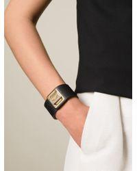 Dolce & Gabbana | Black Logo Plaque Cuff | Lyst