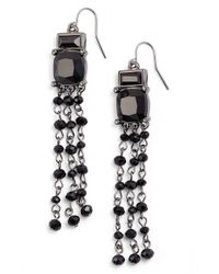 Lauren by Ralph Lauren - Black 'jet' Chandelier Earrings - Lyst
