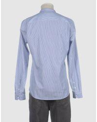 Suit - Blue Long Sleeve Shirt for Men - Lyst