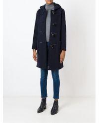 Gloverall - Blue Long Duffle Coat - Lyst