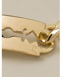 McQ - Metallic Razor Bracelet - Lyst