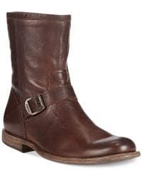 Frye | Brown Phillip Inside Zip Boots for Men | Lyst