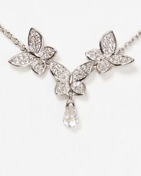 Nadri | Metallic Pave Butterfly Y Necklace 15 | Lyst