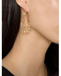 Marie-hélène De Taillac | Metallic 18kt Gold 'rainbow' Chandelier Earrings | Lyst