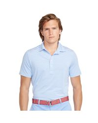 Ralph Lauren - Blue Lightweight Striped Polo Shirt for Men - Lyst