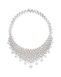 CZ by Kenneth Jay Lane | Metallic Pear And Oval Cut Cubic Zirconia Bib Necklace | Lyst