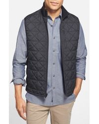 Victorinox | Black 'Matterhorn' Quilted Zip Front Vest for Men | Lyst